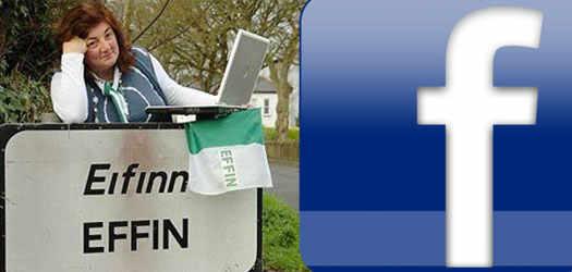 facebook не захотел создавать у себя страницу с название Ирландской деревни Effin