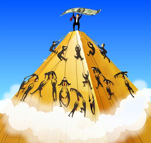 крах пирамид в интернете с деньгами