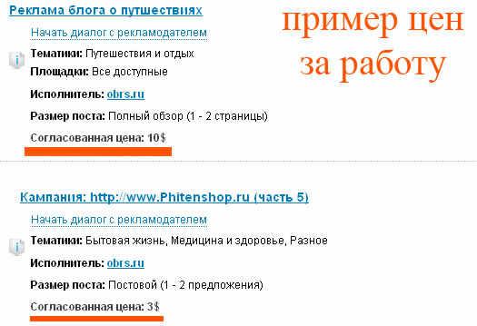 цена рекламы в блогах advert-control.ru