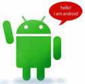 Android с приветствием