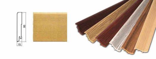 Плинтус деревянный шпонированный и массивный