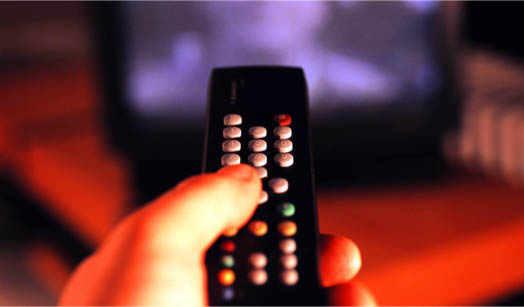 переключение каналов на телевизоре