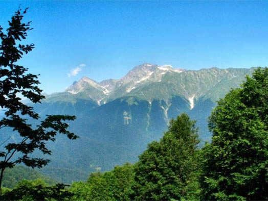 Краснодарский край - вид на горы