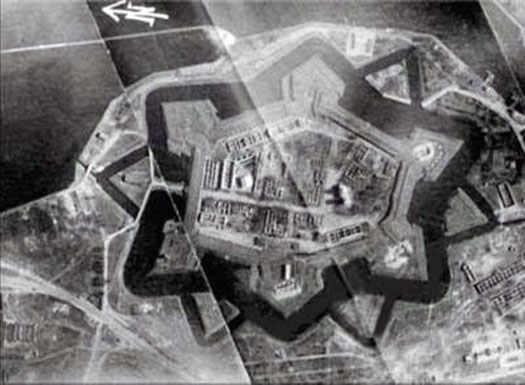 Крепость Св. Елизаветы - вид сверху