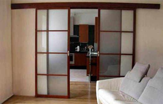 раздвижные двери между комнатами