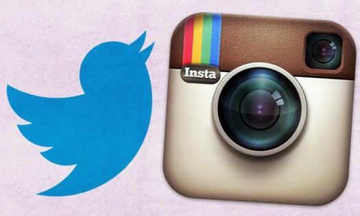 Instagram и Twitter logo