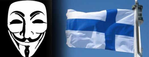 Anonymous атаковал Финские сайты