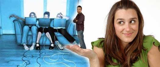 мужчины и женщины в социальных сетях