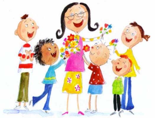 учительница и дети