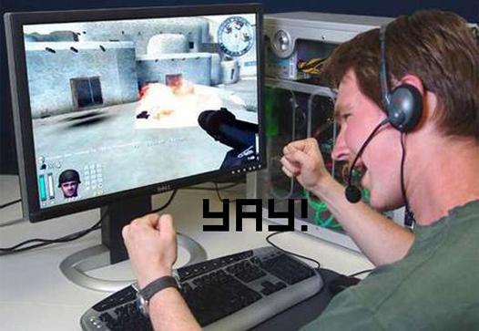 волнение во время игр за компьютером