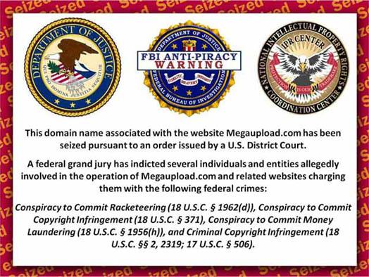 власти закрыли сайт Megaupload