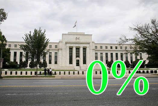 федеральный резерв установил 0 % до 2014 года на кредитные ставки