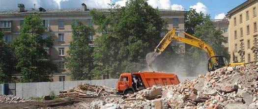 вывоз строительного мусора в городе