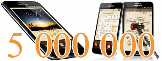 Galaxy Note продан на 5 000 000 экземпляров