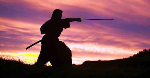 самурай в работе для имиджа Японии