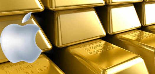 aplle в золоте