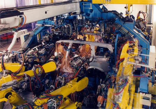 Opel в производстве на заводе