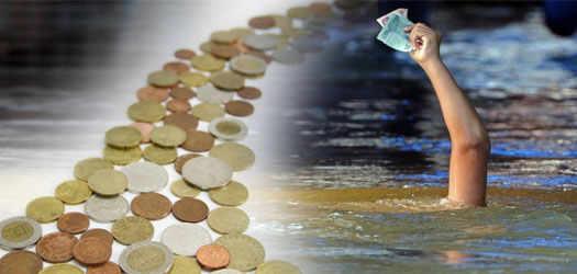 река из денег
