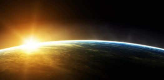 Солнце за горизонтом