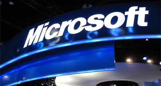 Microsoft корпорация с логотипом