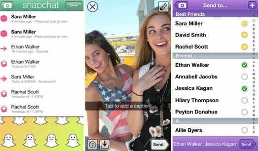 Snapchat чат