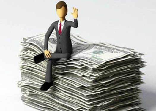 Богач с деньгами