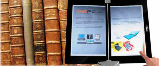 электронная книга и старые печатные