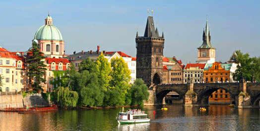 фото вид на Прагу