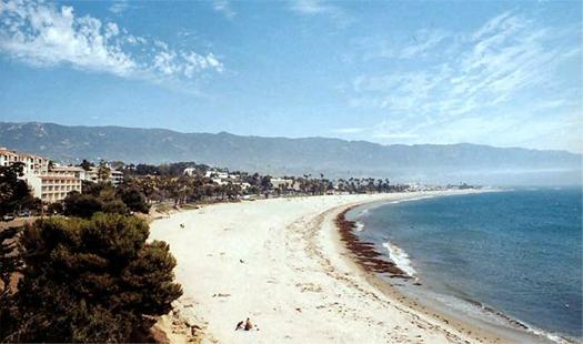 фото пляжа в Санта Барбаре