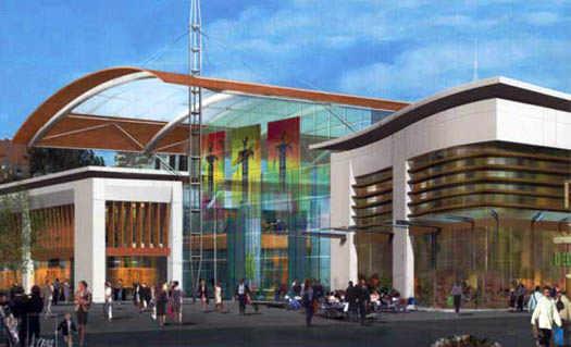торговый центр в городе для людей