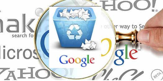 удаление страниц с google
